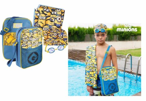 Minions swimming pool set for boys and girls Towel swimming cap swimming goggles