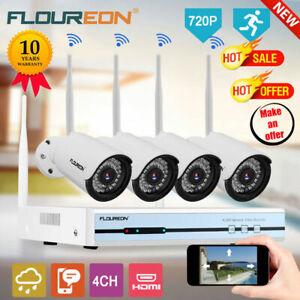 4CH-Wireless-CCTV-1080P-NVR-Kit-1TB-HDD-WLAN-720P-Camara-Ip-Wifi-Exterior-Video