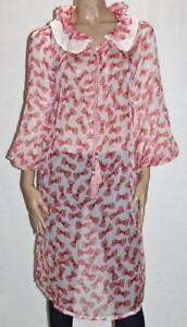 Unbranded-Pink-Chiffon-Bow-Skull-Print-Frill-Collar-Dress-Size-XL-BNWT-sG104