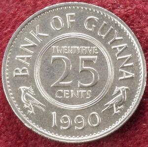 Guyana-25-Cents-1990-C1710