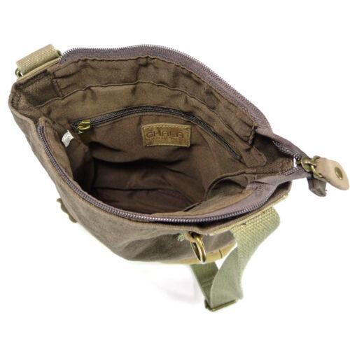 NEW Chala Messenger Crossbody Bag Canvas Dark Brown Gift OCTOPUS  Coin Purse
