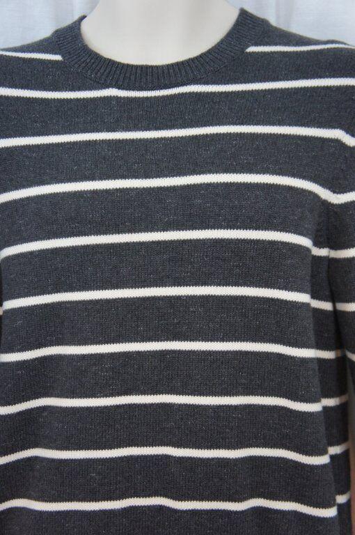 Die Herren Laden Bloomingdales Pullover GRÖSSE S Rauch Weiß Gestreift Freizeit
