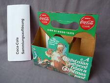 Coca Cola six pack Karton 1989 christmas Flaschen korb Pappe Nr 3