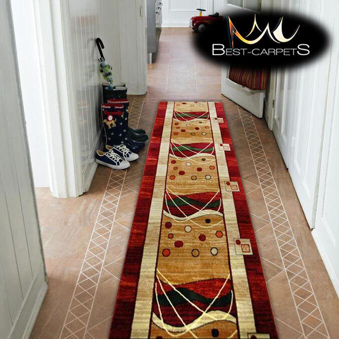 Épais Épais Épais hall runner heat set primo 4626 rouge largeur 70-140cm extra long soft rugs   Grandes Variétés  f85088