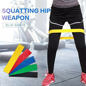 Set-of-5-Workout-Resistance-Loop-Band-Yoga-Crossfit-Fitness-Pilates-Leg-Exercise