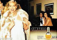 PUBLICITE ADVERTISING 116  1977   Avon (2p)  parfum Emprise femme