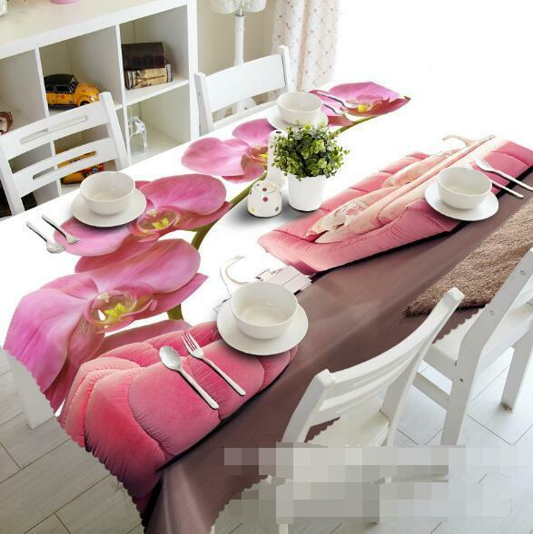 3D Flower 836 Tablecloth Table Cover Cloth Birthday Party Event AJ WALLPAPER AU