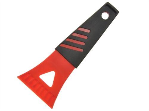Red Comfort Grip  Ice Frost Scraper Car Window Windscreen Black