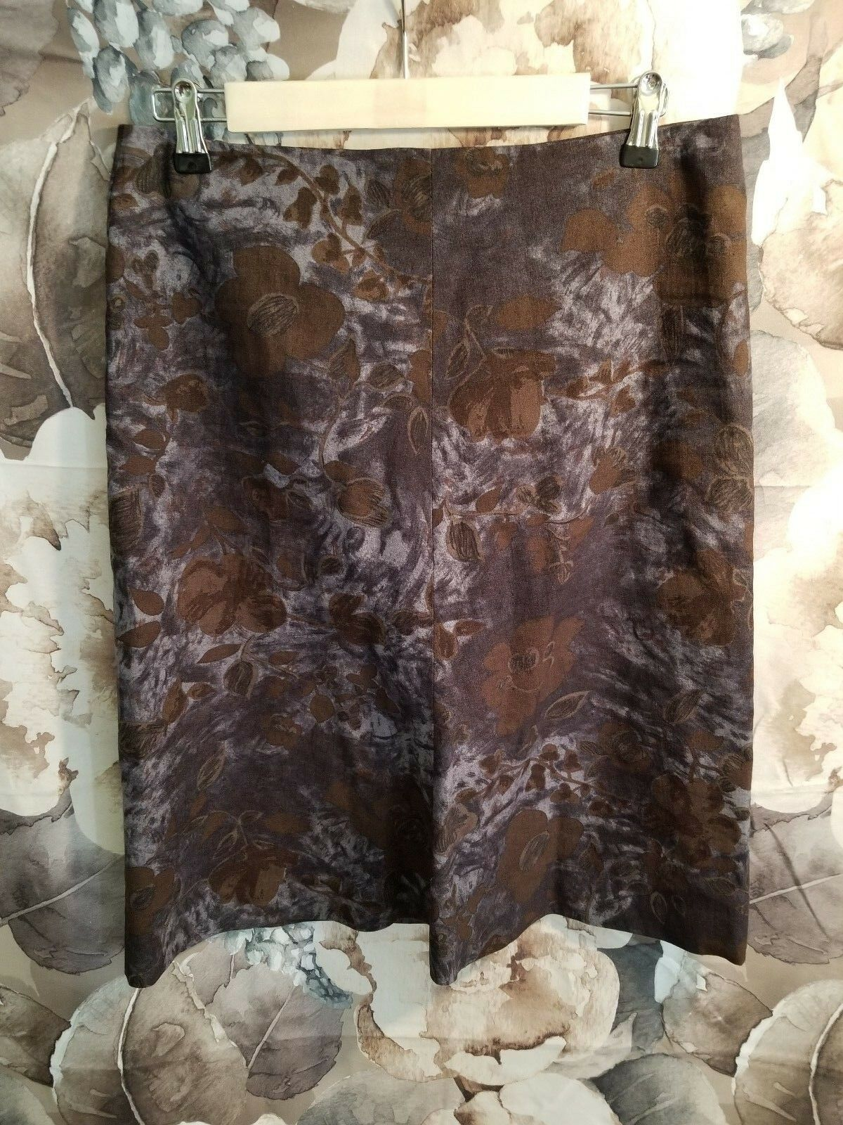 MARNI - Authentic cotton dark floral print A-line Skirt - size 42 US 8