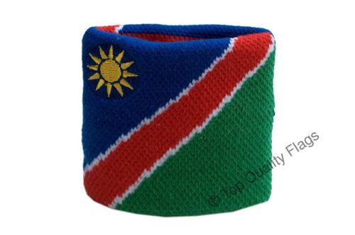 WRISTBAND Namibia Flag SWEATBAND 7x8cm