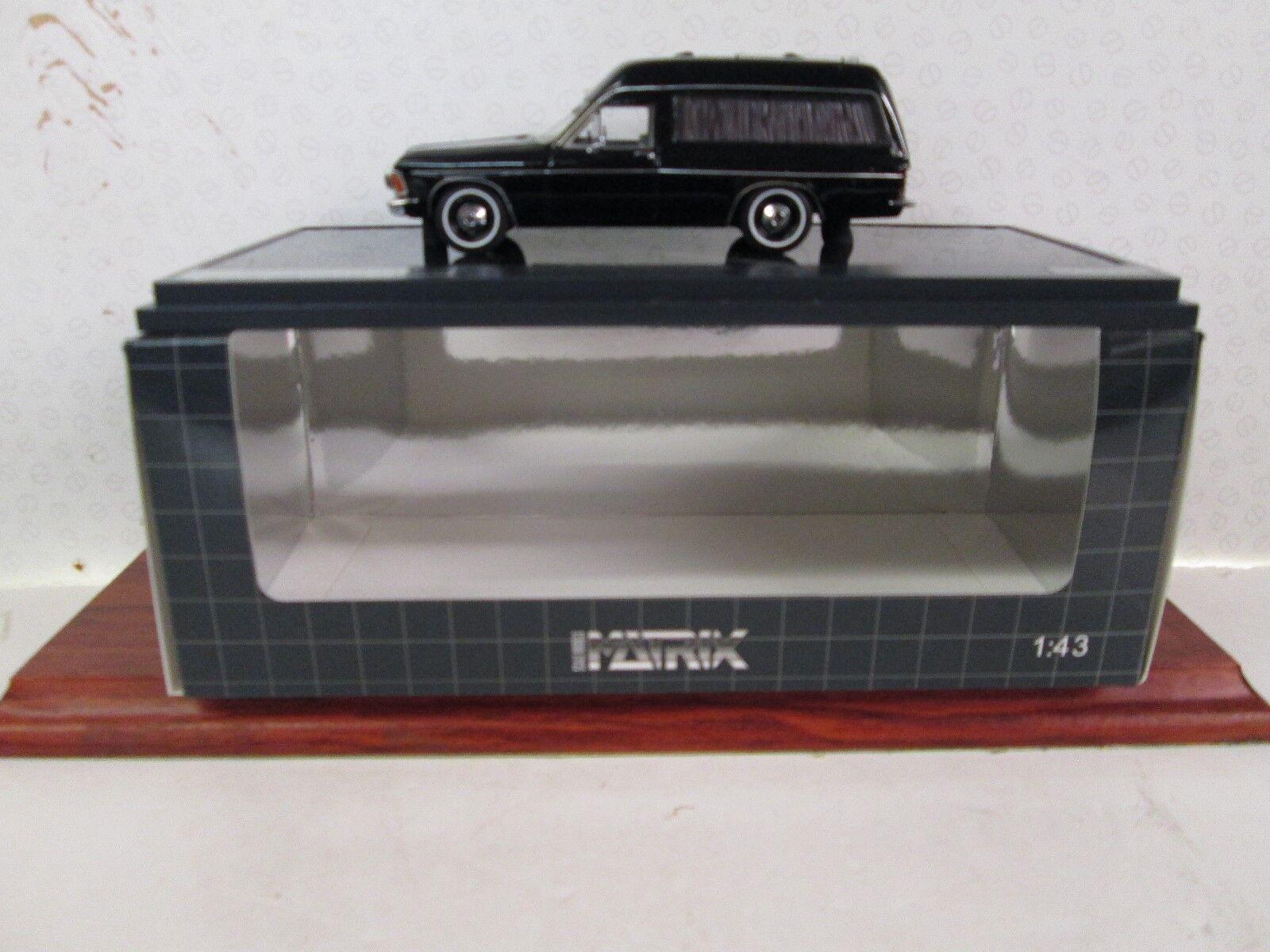 Matriz. Opel Admiral B Hearse. 1 43 Scale. Scale. Scale. Negro. Ltd Ed. MX 11502-021 c4457f
