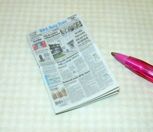 "Miniature /""Cindi/'s Minis/"" Multi-Page Daily Newspaper DOLLHOUSE Perfect 1:12"