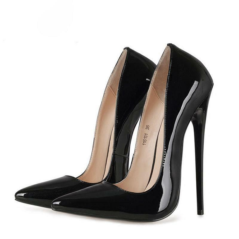 Sexy High Heels 16cm Womens Patent Leather Leather Leather Pumps Party Pointed Toe shoes US 9 10 59f9c1