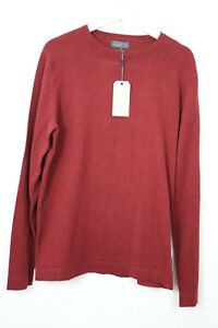 mens-Jack-And-Jones-New-With-Tags-Pull-Over-Jumper-Burgundy-long-sleeve-Sz-L