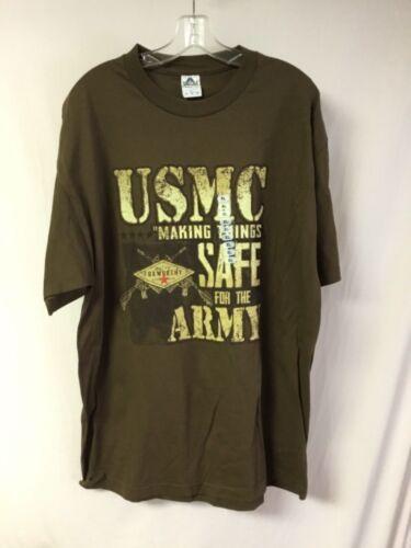 New Men/'s Military Vintage Foxworthy Redneck Gear T-Shirt Brown XL #928Z