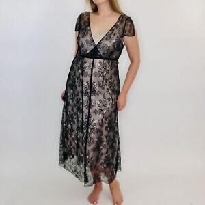 Coast Boho Lace Lingerie Babydoll Teddy Floral Slip Layered Dress 16 Womens