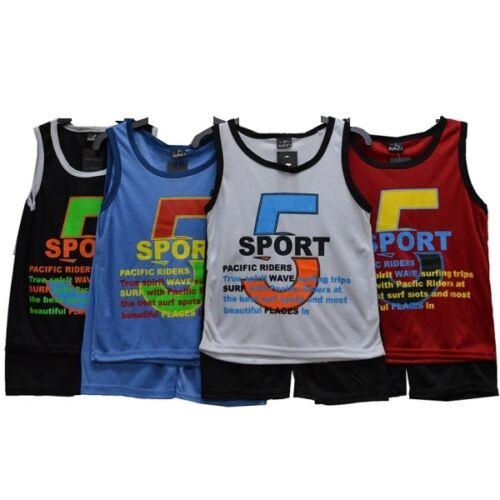 BOYS BASKETBALL KIDS  VEST FOOTBALL TOP /& SHORTS SUMMER SET KIT 3-13 YEARS BNWT