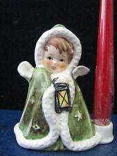 Goebel Figur, 42-412-02, Grüner Weihnachtsengel mit Kerzentülle, TMK6, OVP