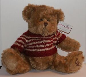peluche ours pull rouge