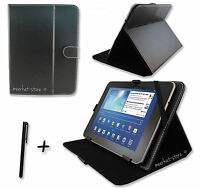 """Black PU Leather Case for Hannspree HANNSpad Quad Core 10.1"""" inch Tablet  PC"""