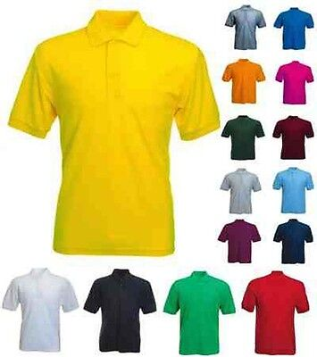 Mens Classic Polo T Shirts Size XS to 4XL - SPORTS CASUAL LEISURE WORK GOLF 101