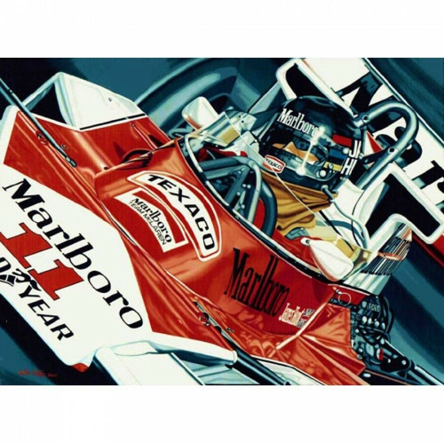 James Hunt recordar recordar recordar James 1976 McLaren Litografía 52c5d4
