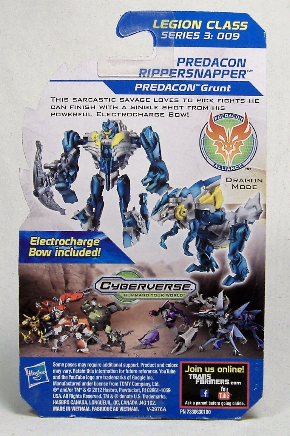 RIPPERSNAPPER Transformers Prime Beast Hunters Cyberverse Legion 2013 Abominus