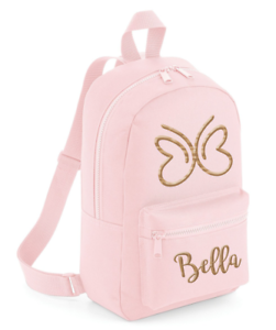 Personalised Butterfly Toddler Kids Childs Back Pack Girls Back To School Bag