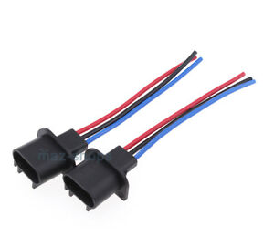 2pcs h13 headlight bulb male wire harness connector wiring plug rh ebay com H4 to H13 Wiring BikeMaster HID Relay Wiring Diagram