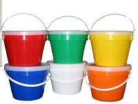12 -1 Gallon Buckets Lids 2 Ea Red Orange Yellow Blue Green White Made Usa