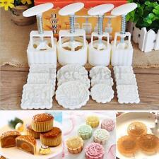 4Models 12Pcs Petals Templates Round Flower Moon Cake Mold Mould Mooncake Kit