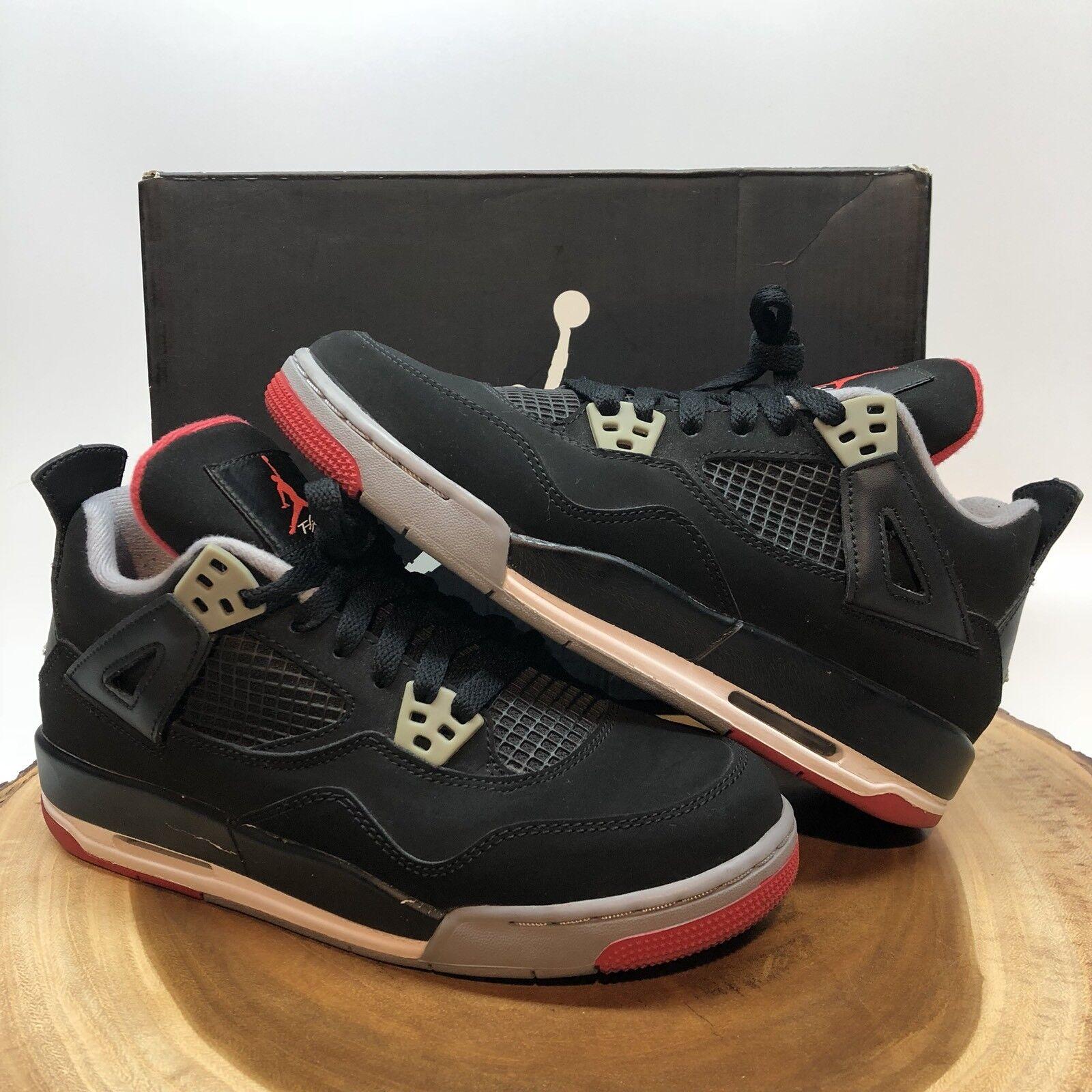 Nike Air Jordan Retro IV Bred Comfortable best-selling model of the brand