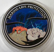 2003 Palau 5 dollars King Red Crab silver Marine Life Protection BOX COA