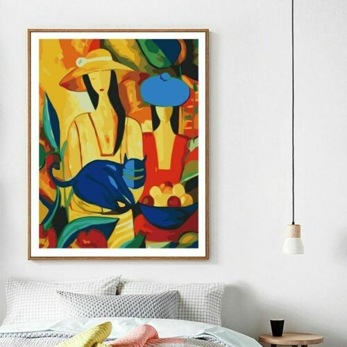 DIY Abstract Oil Painting Woman By Number Figure Home Decor Paint Canvas Picture