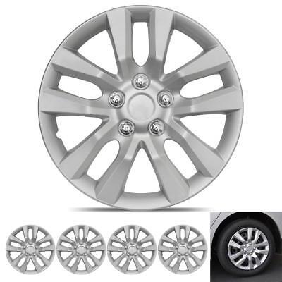 "Simple 16/"" Set x 4 Black Multi-Spoke Wheel Trims Hub Caps Covers Protectors"