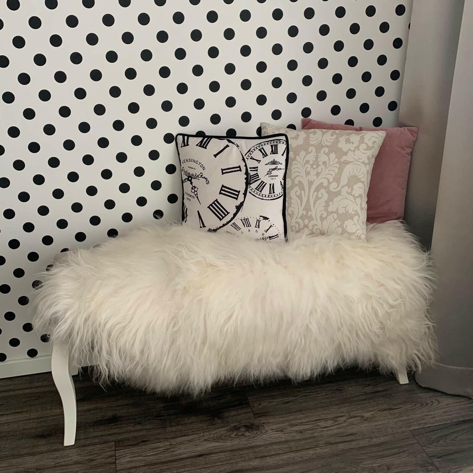 GRANDE Islandese Pelle Di Pecora Tappetino, Morbido Lana extra lungo, bianco naturale, 130x75cm