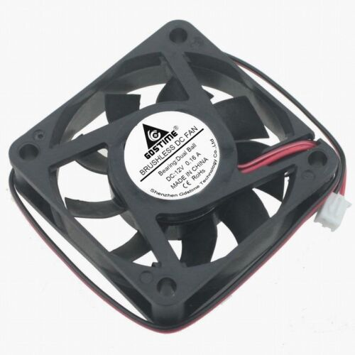 DC12V 0.16A 6CM 6015 Double Ball Bearing Durable DC Cooling Fan