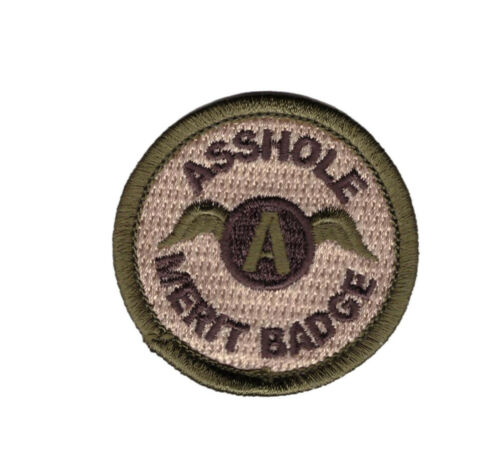 """2/"""" Iron on Multicam Ass hole Merit badge boy scouts Funny Morale Patch"""