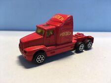 Diecast Majorette Kenworth Truck Red Wear & Tear Good Condition