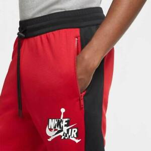 MEN'S NIKE AIR JORDAN JUMPMAN CLASSIC TRICOT PANTS JOGGER SWEATPANTS RED XLT