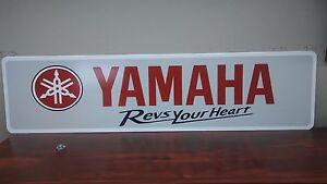 """YAMAHA Logo Aluminum Sign 6"""" x 24"""""""