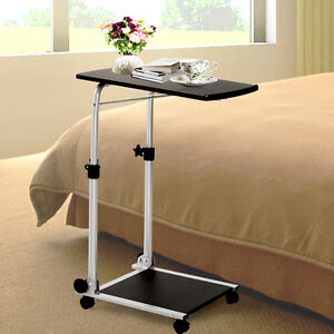 Folding Mobile Rolling Laptop Cart Table Bed Sofa