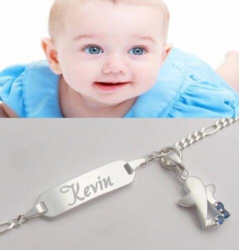Gravur Armband Schutzengel Engel Babyarmkette Name Kinder Echt Silber 925 wunsch