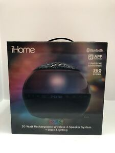 iHome Color Changing Bluetooth Rechargeable Speakers with Speakerphone Brand New