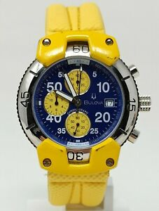 Orologio Bulova chrono watch men's clock rare montre barracuda bulova style 40mm