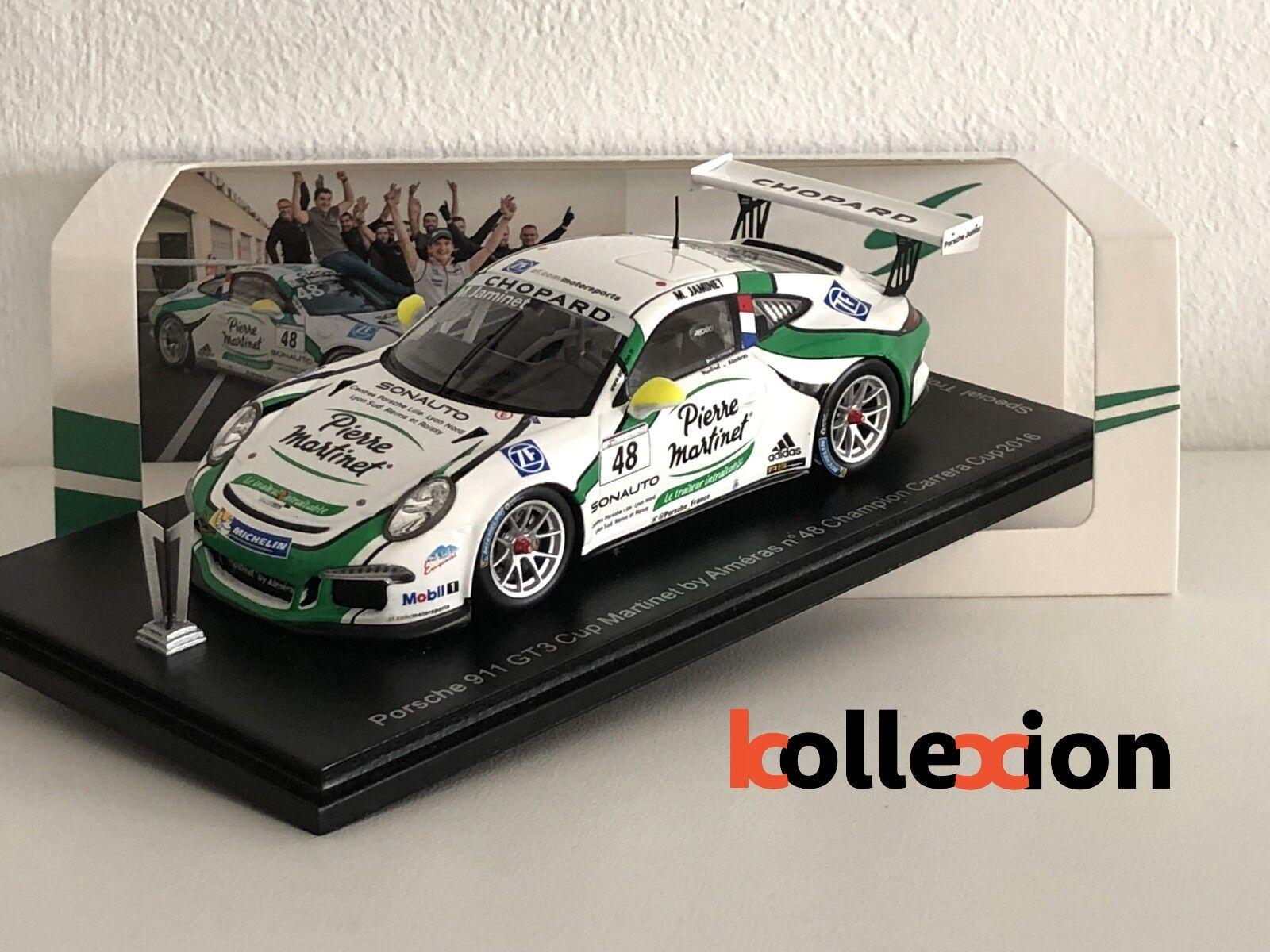 SPARK 43KX004 PORSCHE 991 GT3 Cup n°48 Champion Carrera Cup 2016 Edition Trophée