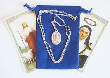 St. Rita, Saint Medal with 24 Inch Necklace