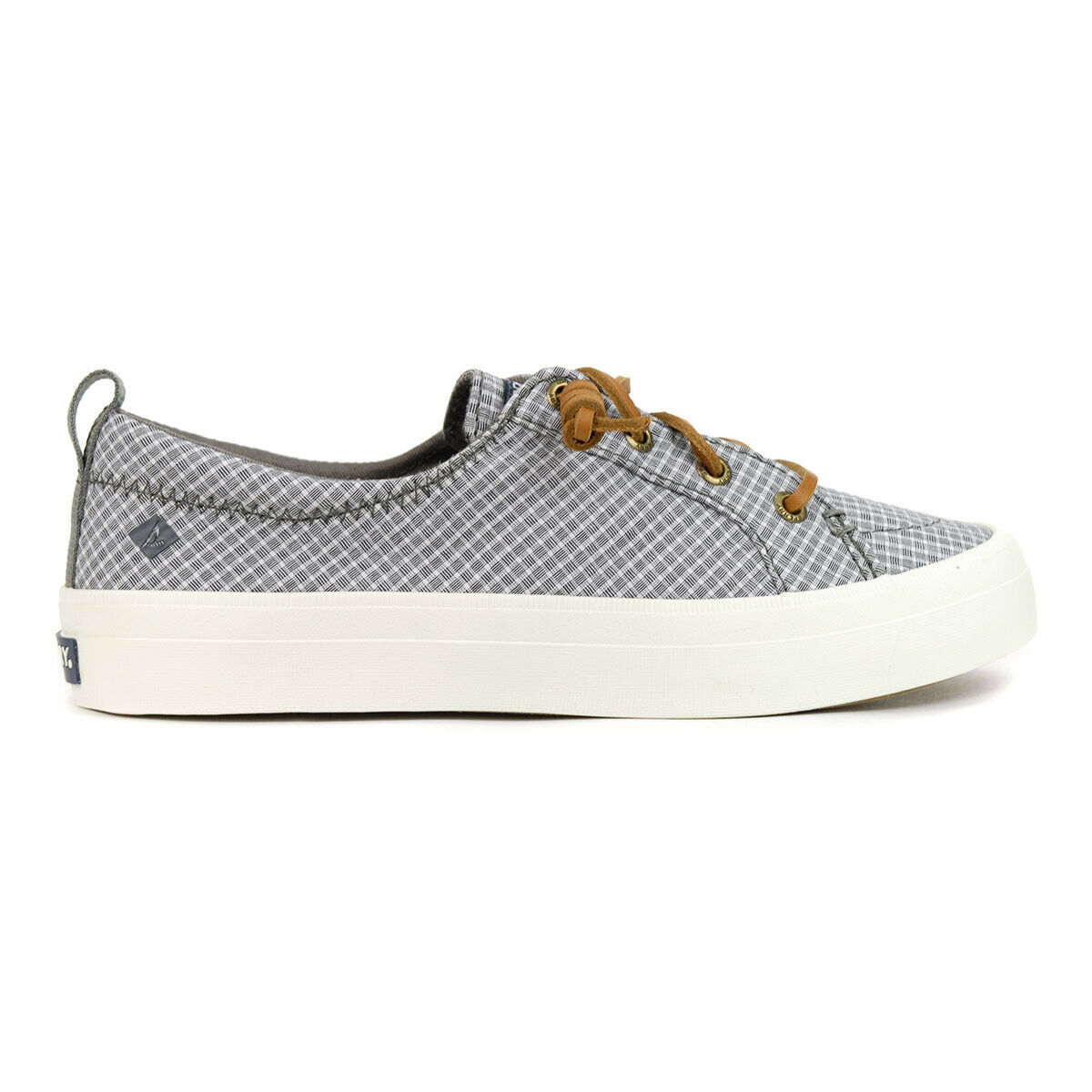 Sperry Women's Crest Vibe Mini Grey/White Checkered Sneakers STS85241 NEW