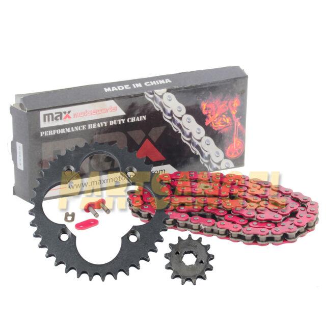 Green O-Ring Drive Chain /& Sprockets Kit Fits HONDA TRX300EX TRX300X 1993-2009