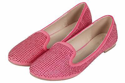 Señoras para mujer Tacón Bajo Informal Sin Cordones Mocasines Escuela Oficina en Ballet Zapatos De Salón Talla